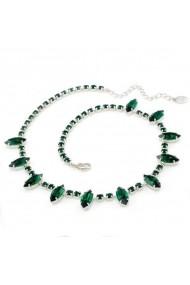 Colier cu cristale Swarovski Carla Brillanti 1009 Emerald
