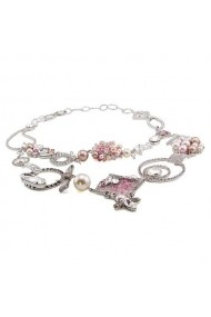 Colier cu perle si cristale Swarovski Carla Brillanti 1187 Crystal &Pearl