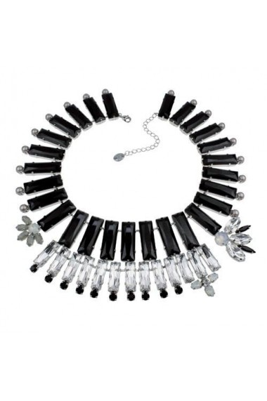 Colier cu cristale Swarovski Carla Brillanti 1169 Jet &Crystal
