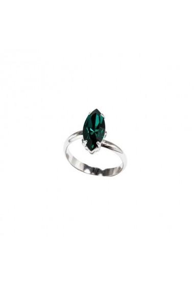 Inel cu cristale Swarovski Carla Brillanti 7024 Emerald