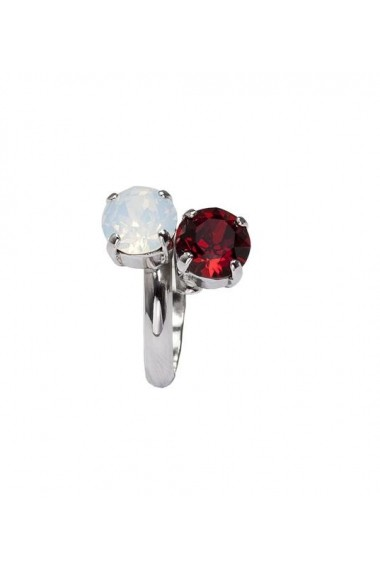 Inel cu cristale Swarovski Carla Brillanti 7028 Opal & Siam