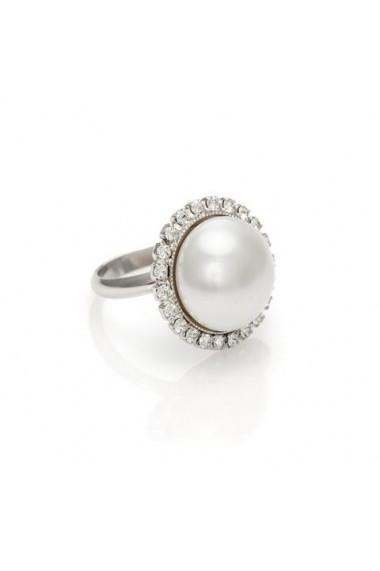 Inel cu perle si cristale Swarovski Carla Brillanti Dream White Pearl