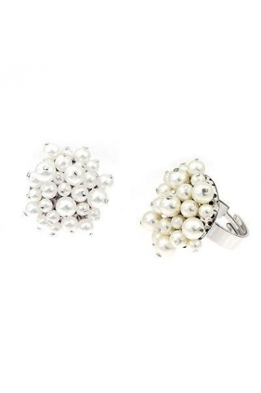Inel cu perle Swarovski Carla Brillanti Flower 7 Pearl