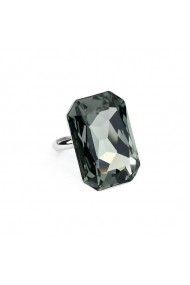 Inel cu cristale Swarovski Carla Brillanti Octagon Black Diamond