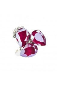 Inel cu cristale Swarovski Carla Brillanti Elisabeta Royal Dark Red