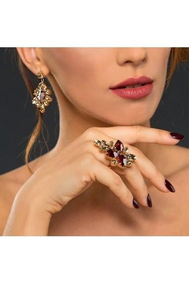 Inel cu cristale Swarovski Carla Brillanti Viktoria 7 Red Magma