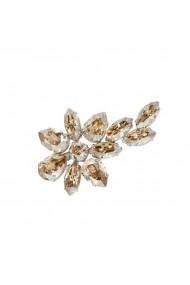 Brosa cu cristale Swarovski Carla Brillanti 5049 Golden Shadow
