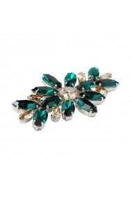 Brosa cu cristale Swarovski Carla Brillanti 5042 Emerald