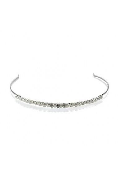 Diadema mireasa cu perle Swarovski Carla Brillanti 8204 Cream Pearl