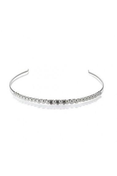 Diadema mireasa cu perle Swarovski Carla Brillanti 8204 White Pearl