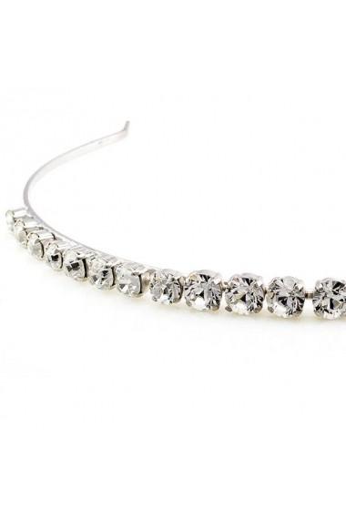 Diadema mireasa cu cristale Swarovski Carla Brillanti 8006 Crystal