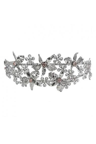 Diadema mireasa cu cristale Swarovski Carla Brillanti Edelweiss Crystal