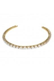 Diadema mireasa cu perle si cristale Swarovski Carla Brillanti 8006L Pearl &Golden Shadow G