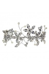 Diadema mireasa cu cristale Swarovski Carla Brillanti Cherry Flower Crystal