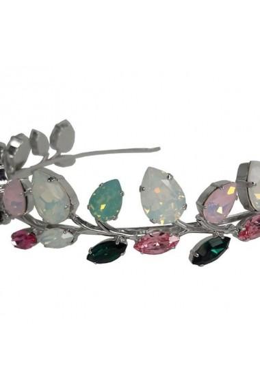 Diadema mireasa cu cristale Swarovski Carla Brillanti Rafaela Color