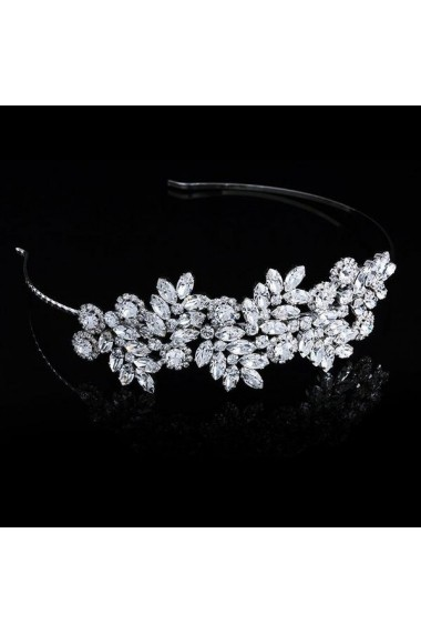 Diadema mireasa cu cristale Swarovski Carla Brillanti Adele 8 Crystal