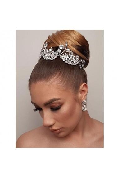 Diadema mireasa cu cristale Swarovski Carla Brillanti Delicate Glamour Crystal