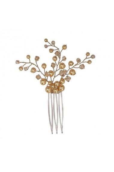 Accesoriu par mireasa cu cristale Swarovski Carla Brillanti Branch Golden Shadow