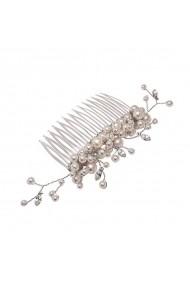 Accesoriu par mireasa cu perle si cristale Swarovski Carla Brillanti 8289 White Pearl