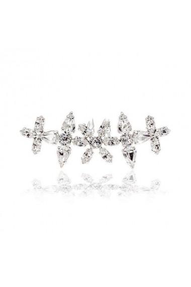 Accesoriu par mireasa cu cristale Swarovski Carla Brillanti Floralis Crystal