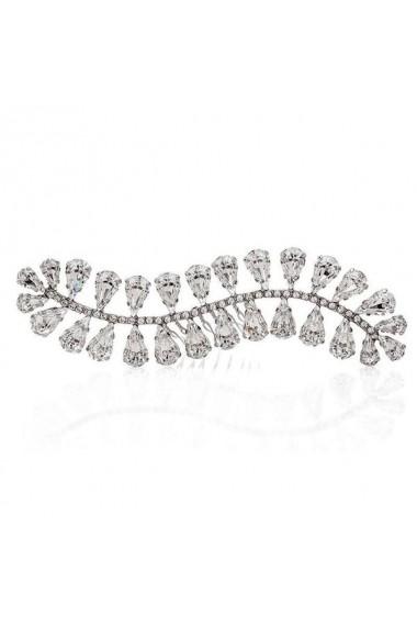 Accesoriu par mireasa cu cristale Swarovski Carla Brillanti Wavy Sea L Crystal