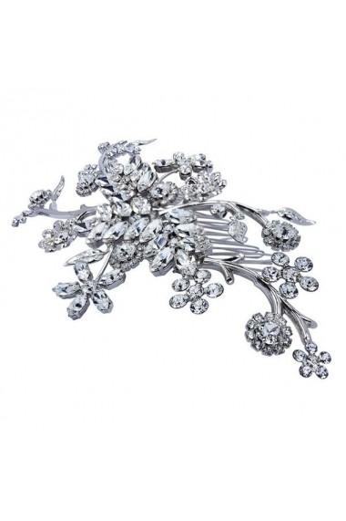 Accesoriu par mireasa cu cristale Swarovski Carla Brillanti Endless Night Crystal