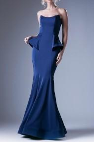 Rochie de seara Andrea Leo Couture A9003 Bleumarin