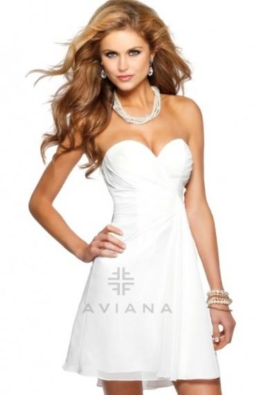 Rochie de seara Faviana 7420 Crem