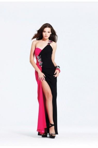 Rochie de seara Faviana 6710 Neagra/Fuchsia