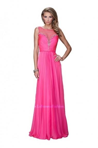 Rochie de seara La Femme Fashion 20956 Fuchsia