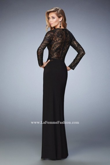Rochie de seara La Femme Fashion 22281 Neagra