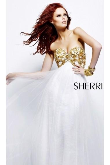 Rochie de seara Sherri Hill 21090 Crem