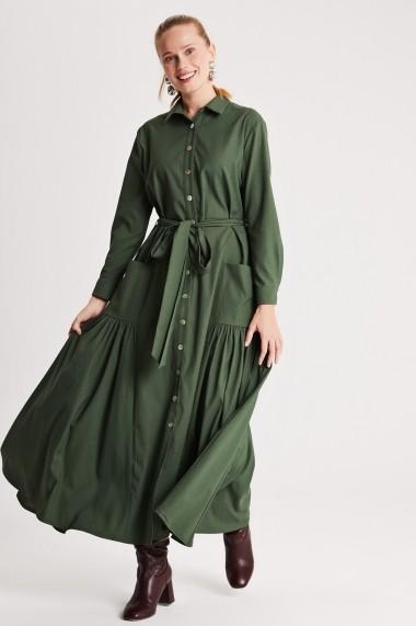 Rochie lunga de zi Muni Muni 50214 Verde