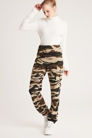 Pantaloni drepti Muni Muni 50223 Print