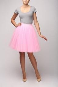 Fusta tulle XMADE roz 50 cm lungime