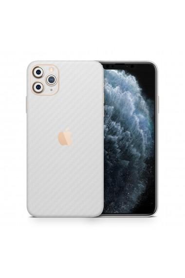 Skin iPhone 11 PRO carbon alb