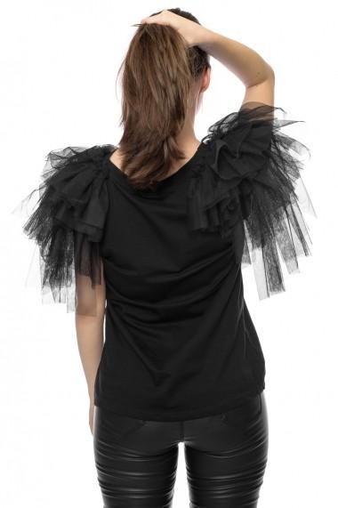 Tricou Jolenttine Glam Look Black T30130 Negru