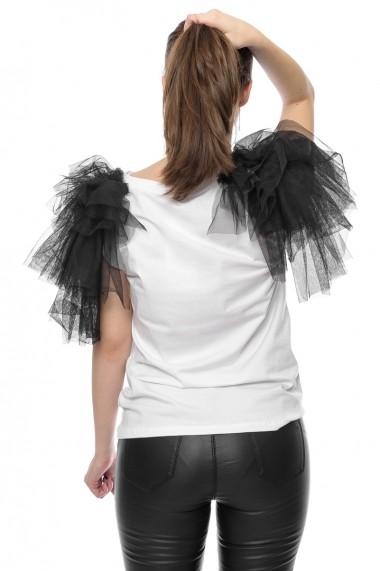 Tricou Jolenttine Glam Look White T30130A Alb