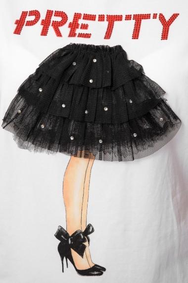 Tricou Jolenttine Pretty Ballerina C04-219 Alb