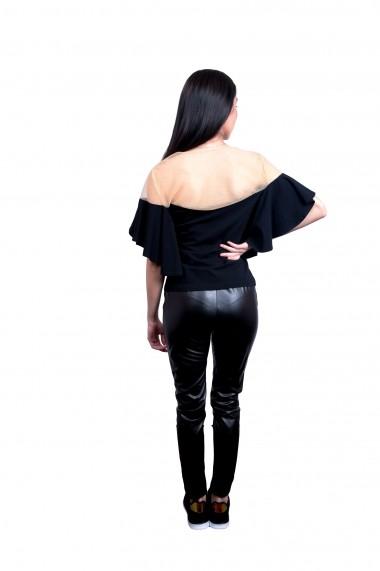 Pantaloni Mida Leisure Colant Negri