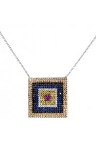 Lant argint 925 Ametist Online P161117015 Multicolor