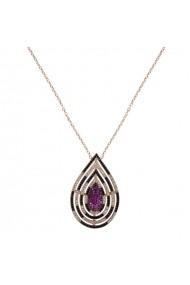 Lant argint 925 cu pandantiv Ametist Online P161117017 Multicolor