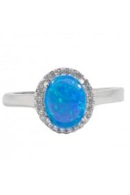 Inel argint 925 cu Opal Ametist Online C251018004-MI20 Albastru