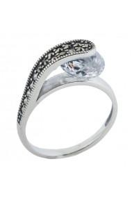 Inel argint 925 cu Marcasit Ametist Online C251018006-SI17 Argintiu