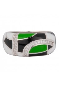 Inel argint 925 Ametist Online C251018037-SI20 Verde