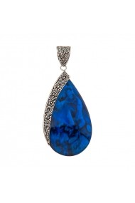 Pandantiv argint 925 cu Scoica Abalone Ametist Online SA071118002-A14024 Albastru