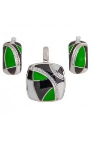 Set argint 925 Ametist Online C251018053-CS16 Verde