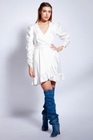 Rochie scurta Monarh Design MN912 Alba