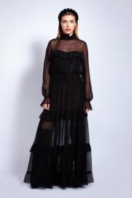 Rochie lunga Monarh Design MN122 Neagra
