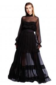 Rochie lunga Monarh Design MN845 Neagra